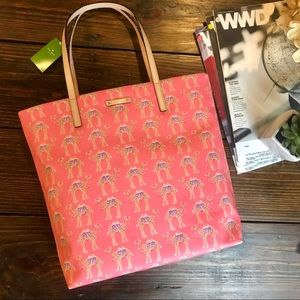 Kate Spade Pink Camel Tote Bag computer bag